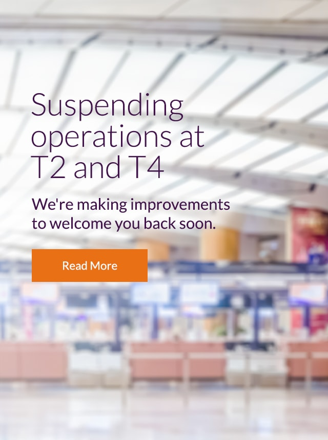Suspending operations at Terminal 2