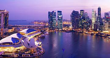 Free Singapore Tour, aerial shot of Singapore