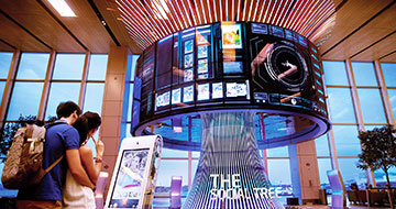 Changi Airport interactive social tree