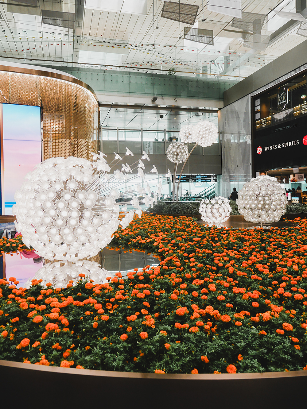 What: Crystal Garden<br>Where: Terminal 3 Departure Transit Hall, Level 1