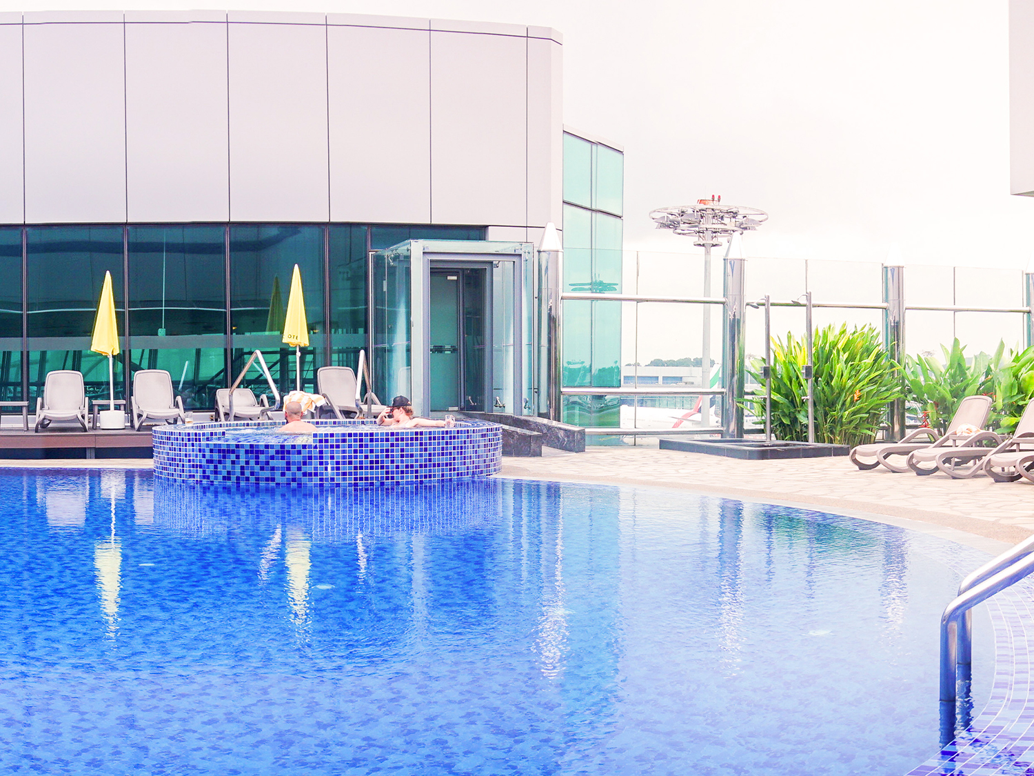 What: Swimming Pool with Jacuzzi<br>Where: Aerotel Airport Transit Hotel, Terminal 1 Departure Transit Hall, Level 3