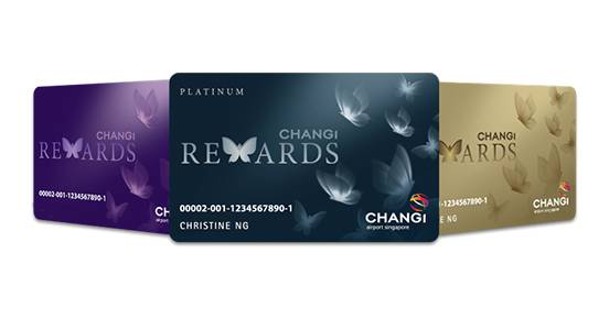 Changi Rewards Program three card types